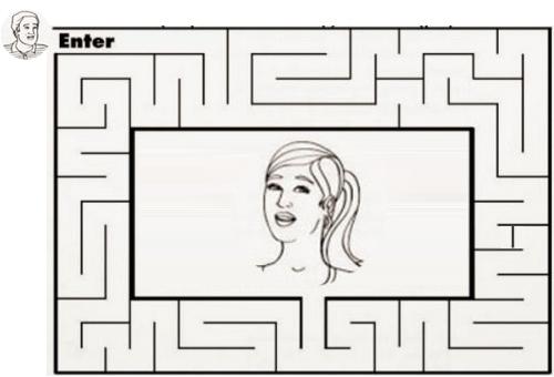 Con đường nào để giúp anh chàng tìm đến vị trí của người đẹp?