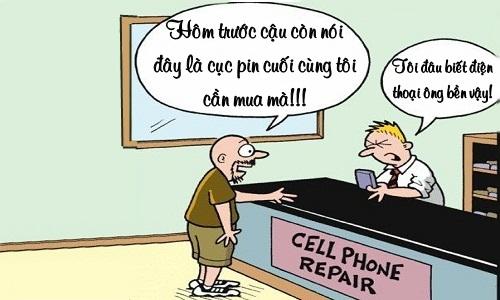Mất uy tín vì điện thoại khách hàng quá bền - mất uy tín, điện thoại,